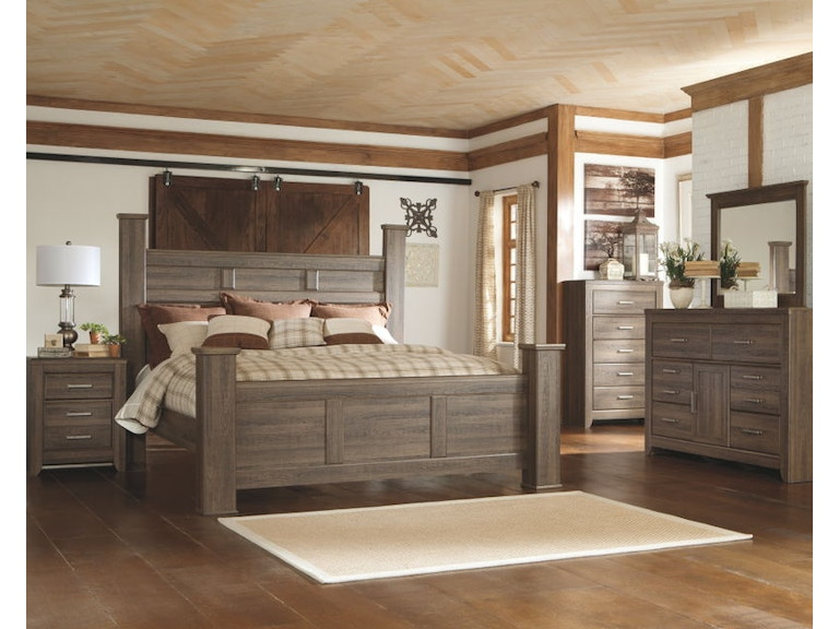 8 Piece King Poster Bed Set