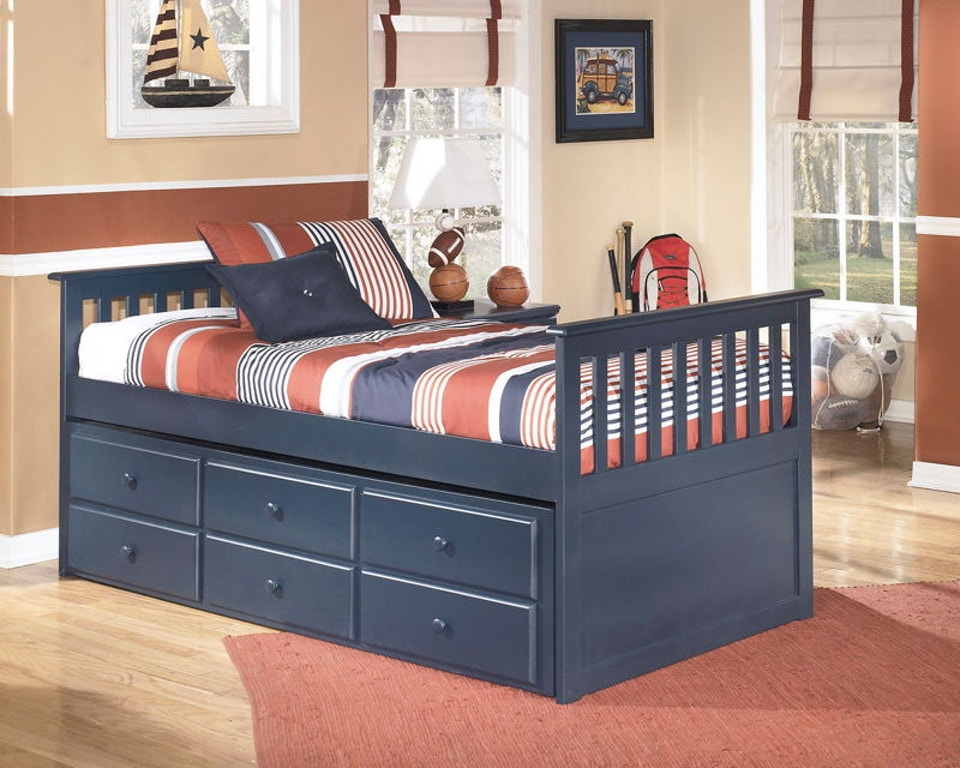 Twin Trundle Bed with Trundle Drawer Box