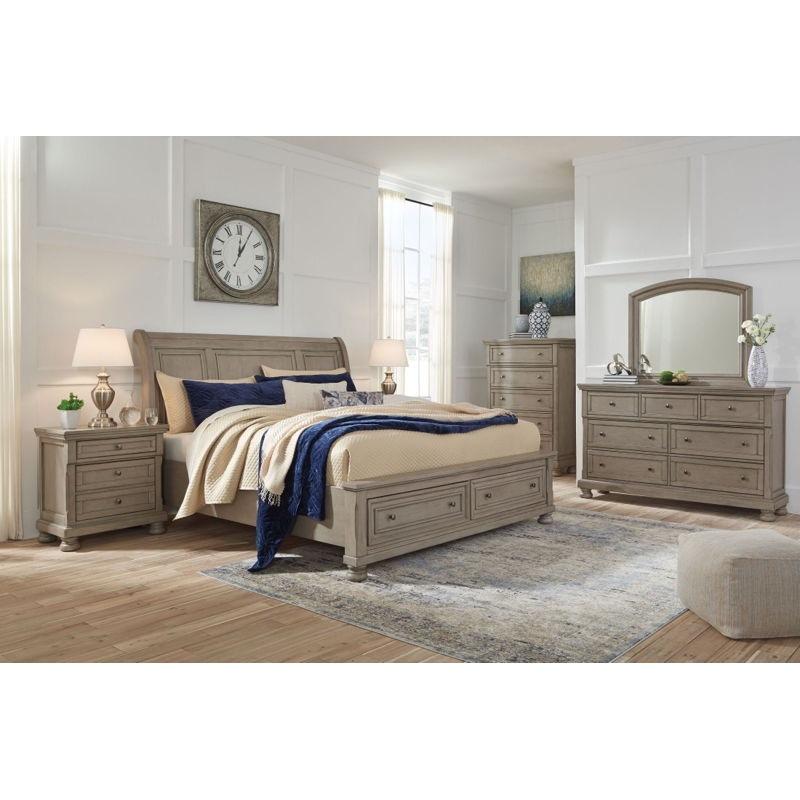Ashley Lettner 8 Piece Queen Sleigh Bed Set B733 31 36 46 77 74 98