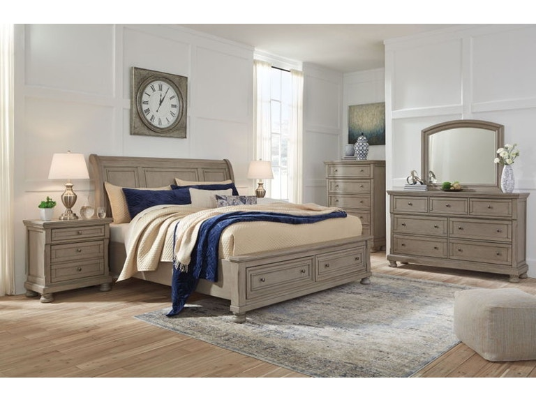 Ashley Lettner 8 Piece Queen Sleigh Bed Set B733 31 36 46 77 74 98