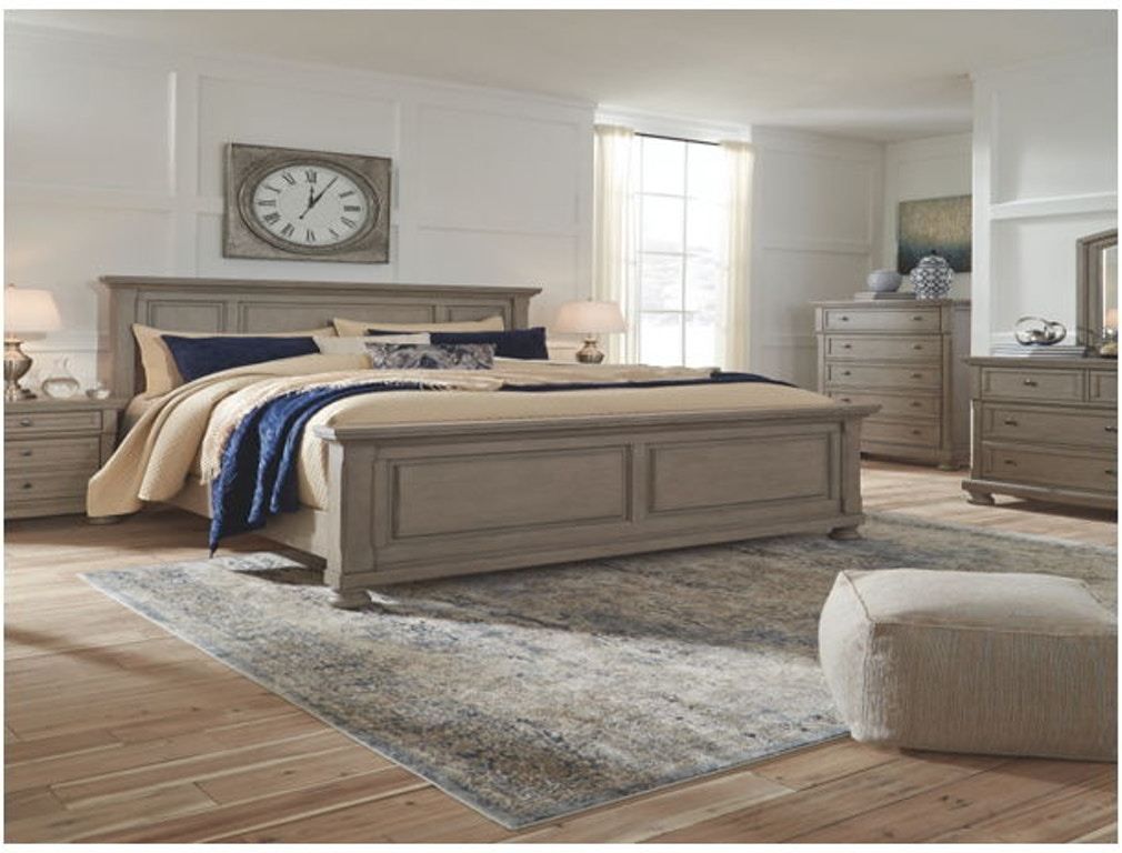 Ashley Lettner 5 Piece King Panel Bed Set B733 31 36 58 56 97 Portland Or Key Home Furnishings