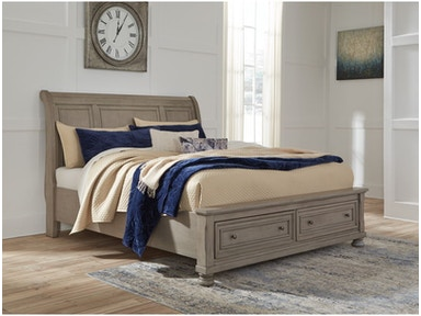 Ashley Lettner King Sleigh Bed With Storage B733 78 76 99