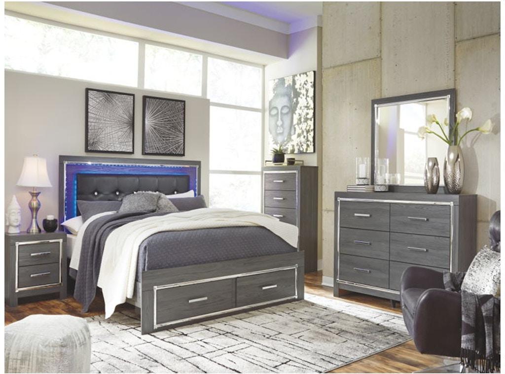 Ashley Lodanna 6 Piece King Storage Bed Set B214 31 36 46 58 56s 97 Portland Or Key Home