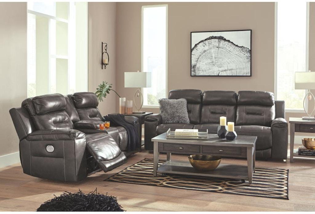 Ashley Pomellato Power Reclining Living Room Set U50101 15