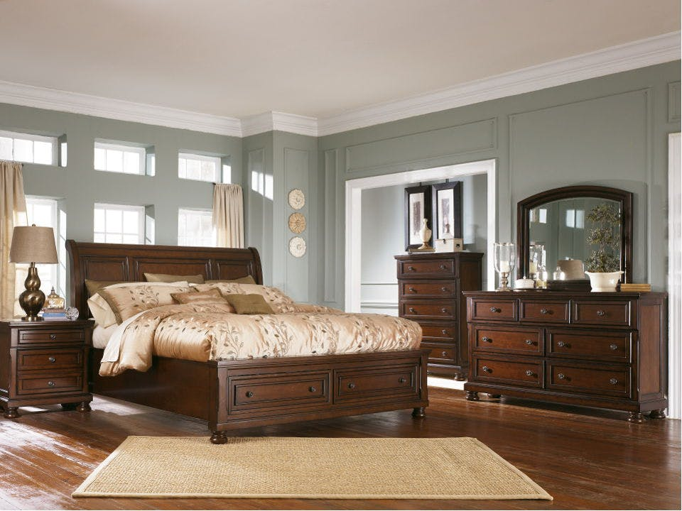 Ashley Porter 7 Piece California King Sleigh Bed Set B697 31 36 78 76 95 92 2 Portland Or Key