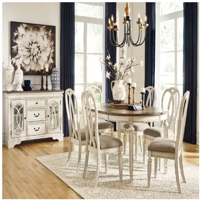 Ashley Realyn 8 Piece Oval Dining Room Extension Table Set D743 35 02 6 60 Portland Or Key