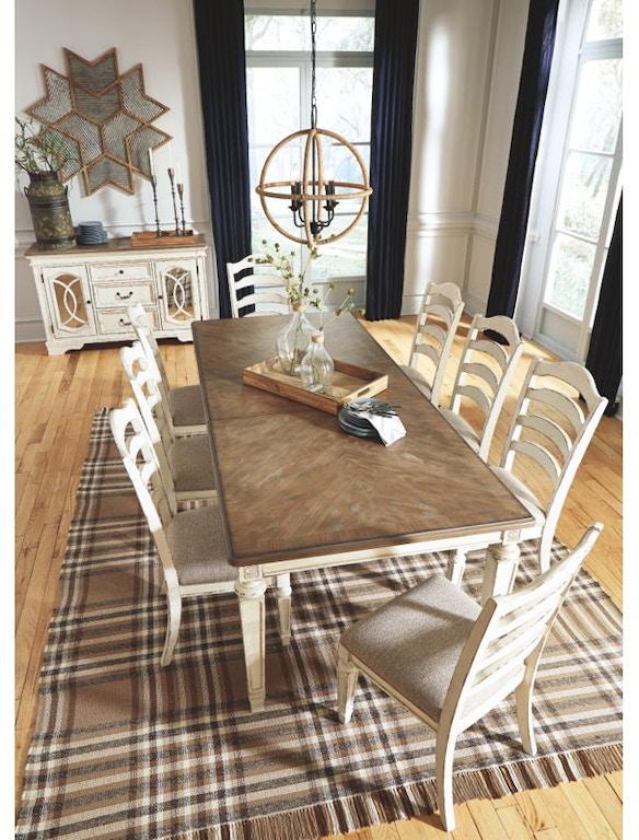 Ashley Realyn 8 Piece Rectangular Dining Table Set D743 45 01 6 60 Portland Or Key Home