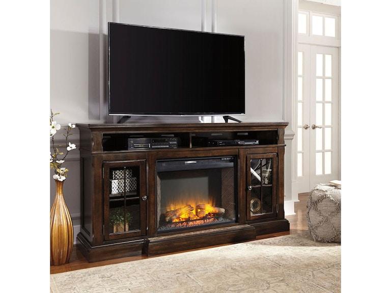 Ashley Roddinton Tv Stand With Fireplace W701 88 W100 21