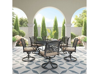 Ashley Rose View 7 Piece Brown Dining Set Portland Or