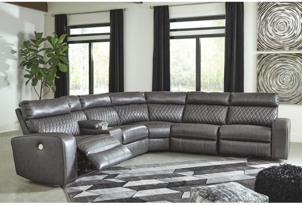 Ashley Samperstone Power Reclining Sectional 55203 58 57