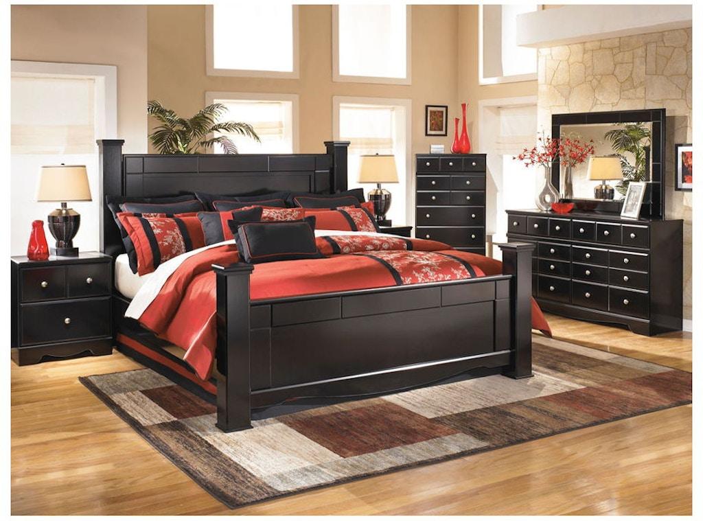 Ashley Shay 6 Piece King Bed Set Portland Or Key Home Furnishings