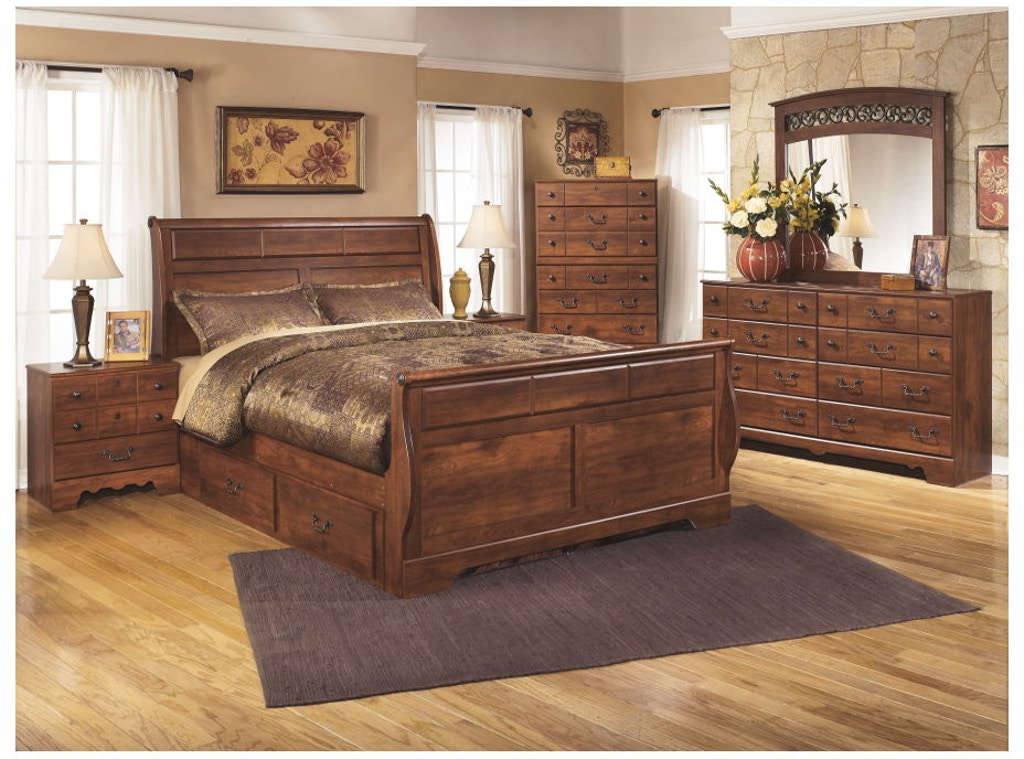 Ashley Timberline 8 Piece Queen Storage Sleigh Bed Set B258 31 36 57 54 96 60 92 2 Portland Or