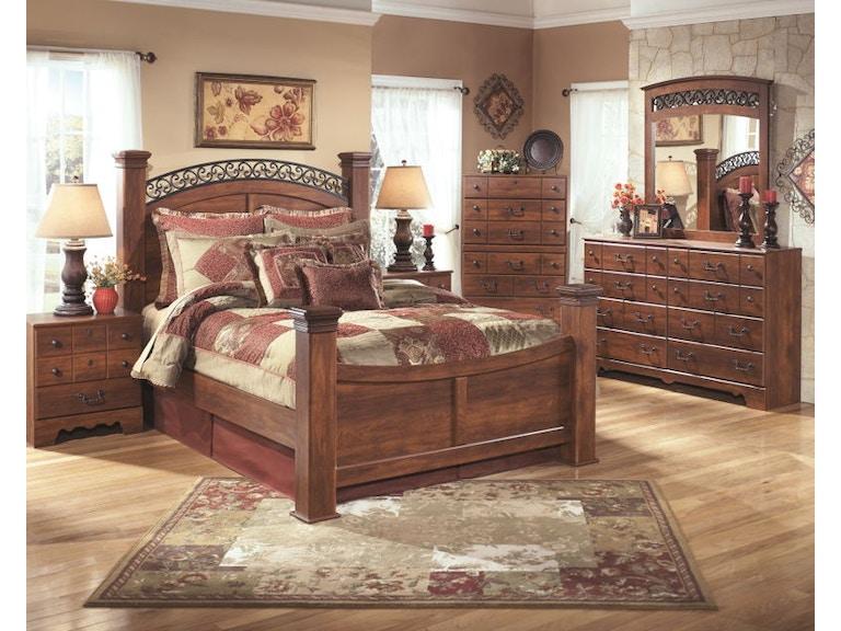 8 Piece Queen Poster Bed Set