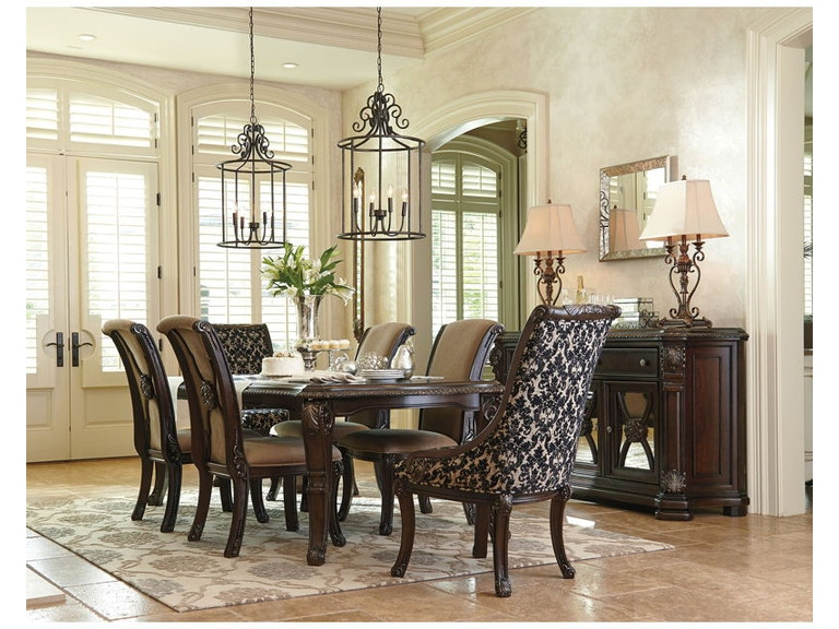 Ashley 8 Piece Rectangular Dining Room Set D780 35 01 4 02A
