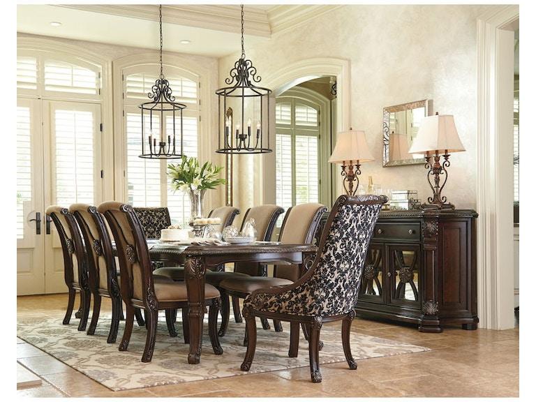 Ashley Valraven 10 Piece Rectangular Dining Room Set D780
