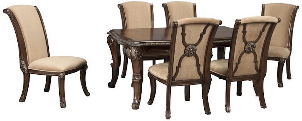 Fabulous Ashley Valraven 7 Piece Rectangular Dining Room Set D780 35 Gamerscity Chair Design For Home Gamerscityorg