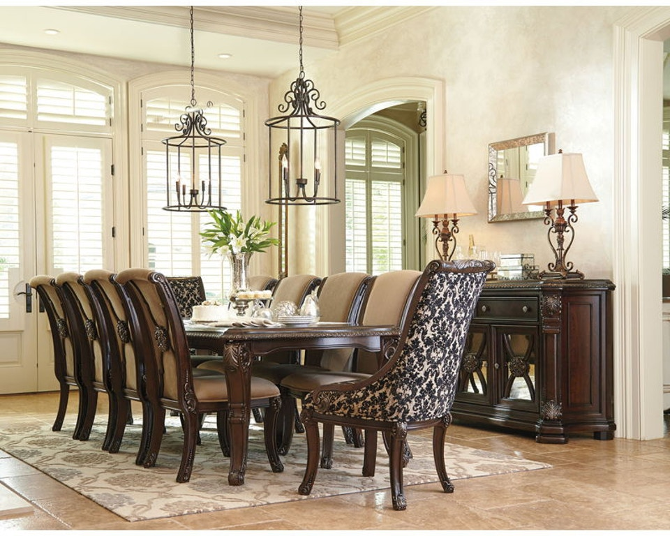 11 piece dining room set ashley valraven 11 piece rectangular dining room set d780 35 01 8 02a 2 portland or key home 8391