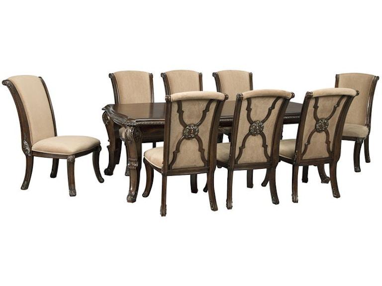 Astonishing Ashley Valraven 9 Piece Rectangular Dining Room Set D780 35 Gamerscity Chair Design For Home Gamerscityorg