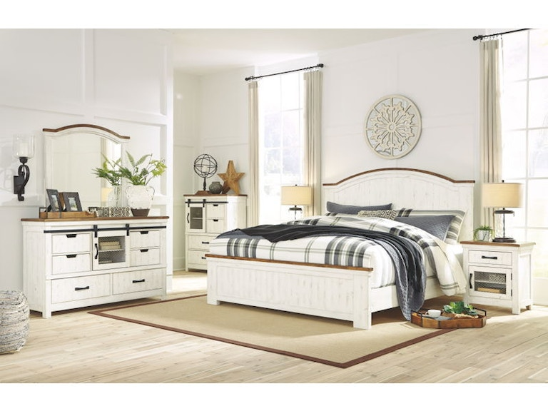 Ashley Wystfield 5 Piece Queen Panel Bed Set B549-31-36-57-54-96 ...