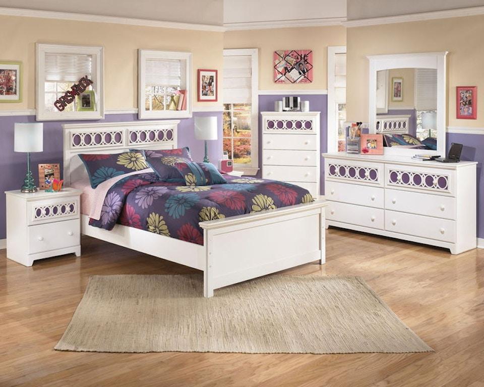 Wondrous Ashley Zayley 5 Piece Full Bed Set B131 21 26 87 84 86 Home Interior And Landscaping Mentranervesignezvosmurscom