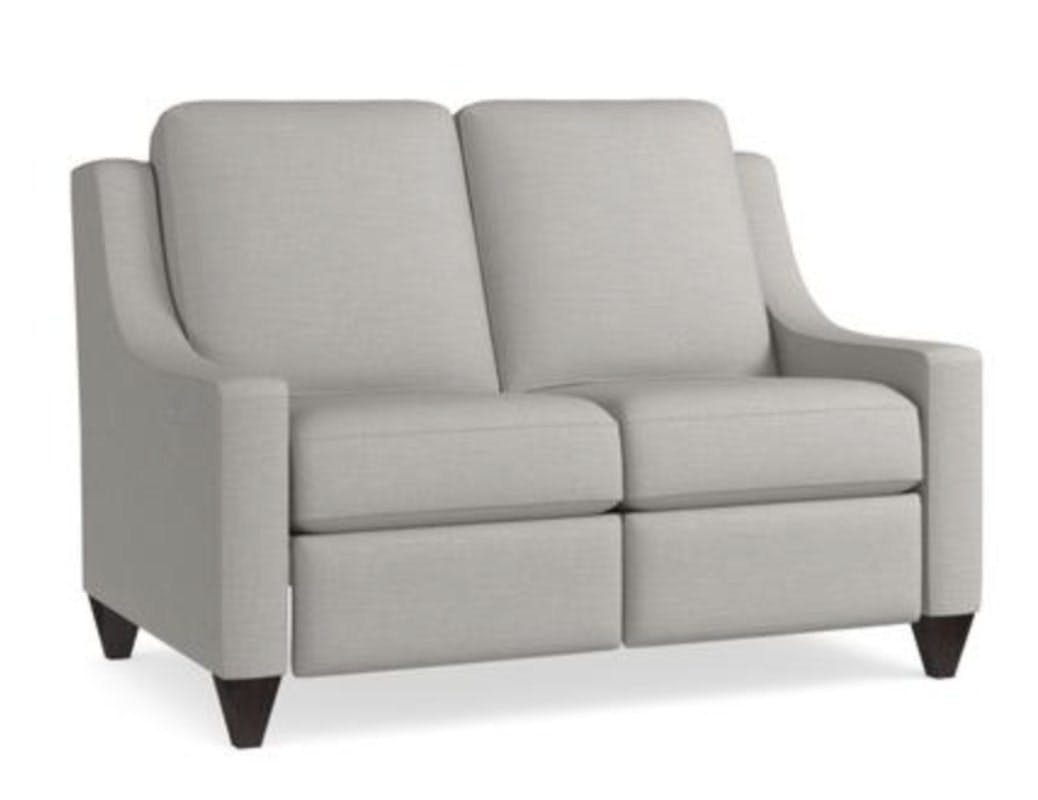 Picture of: Bassett Magnificent Motion Reclining Fabric Loveseat M000 42m Portland Or Key Home Furnishings