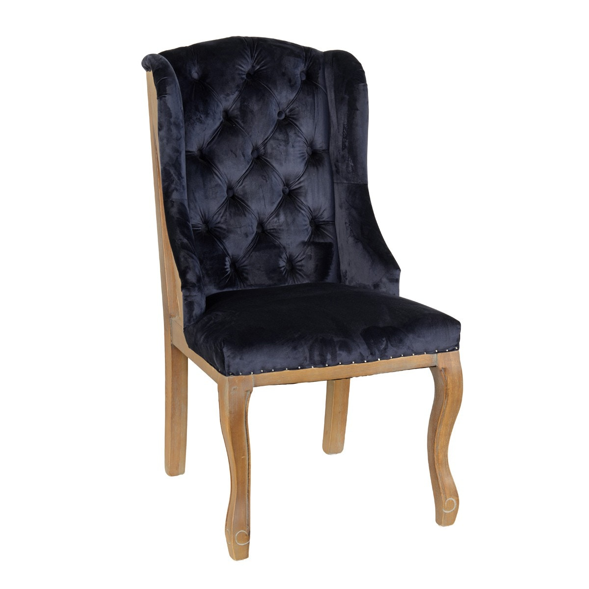 Classic Home Lafayette Wingback Chair Navy 53004837 In Portland, Oregon