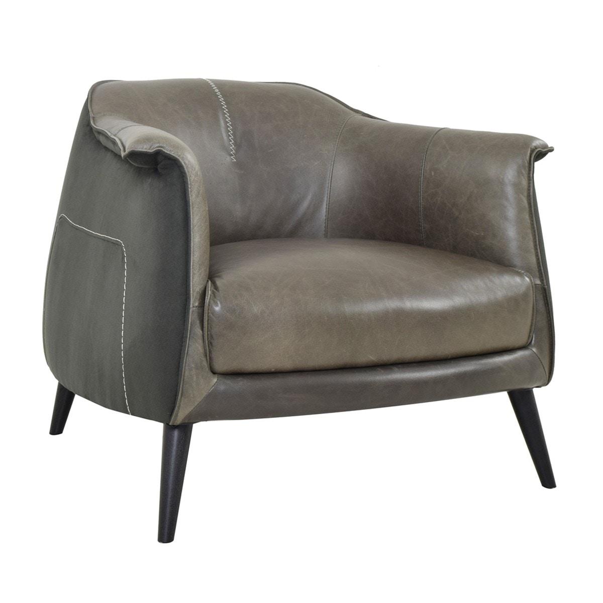 Merveilleux Classic Home Martel Club Chair Wolf Char 2101CH71 In Portland, Oregon