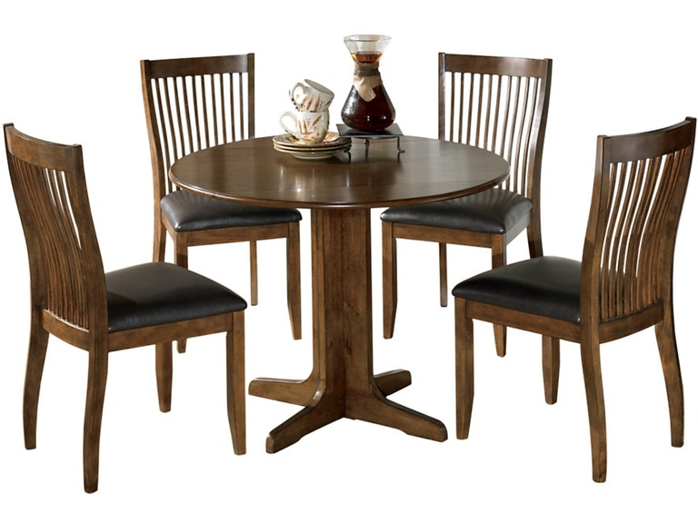 Ashley Stuman 5 Piece Round Drop Leaf Dining Set Portland Or