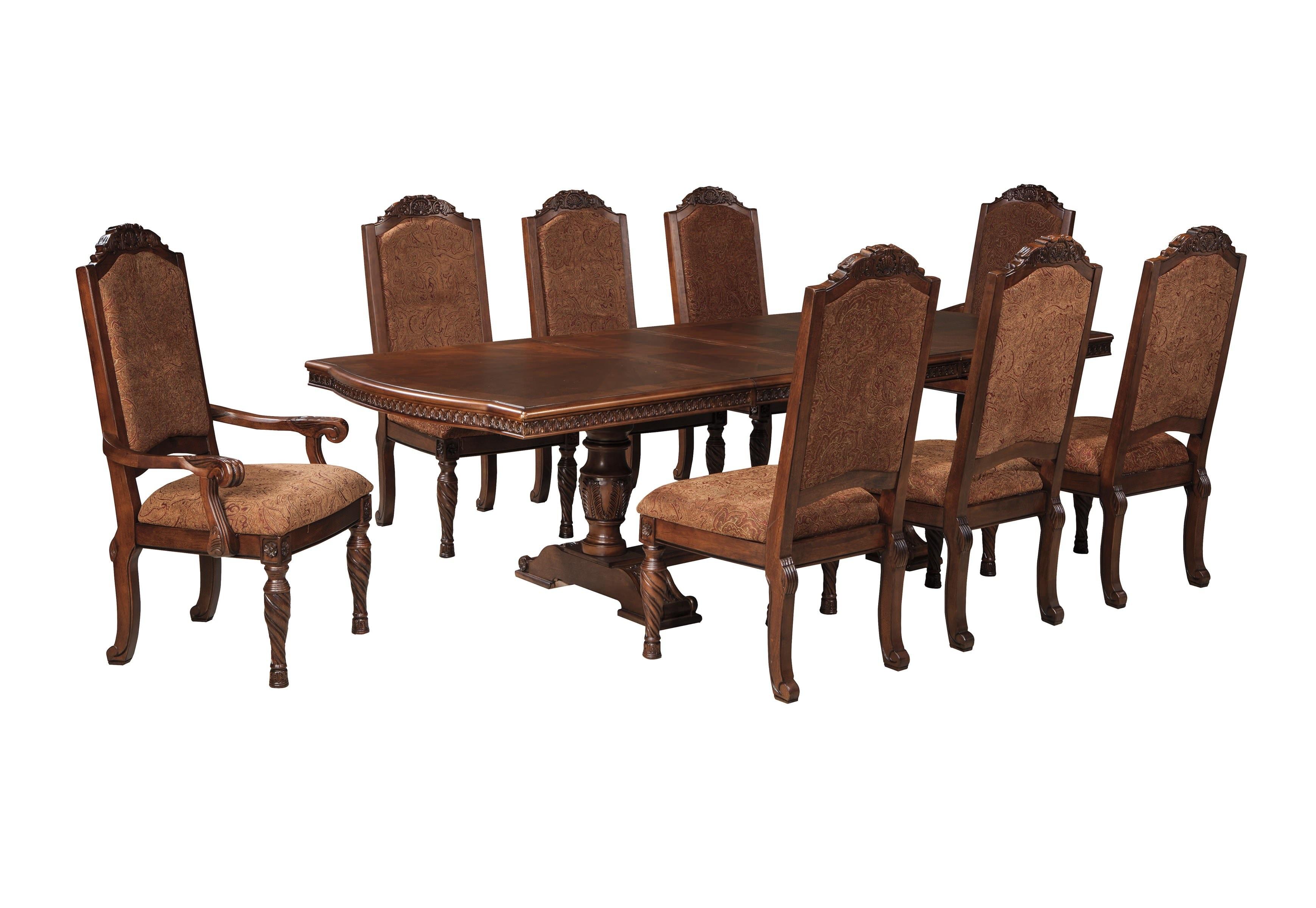 Wonderful Ashley North Shore 9 Piece Rectangular Pedestal Dining Set D553 55 02 02A