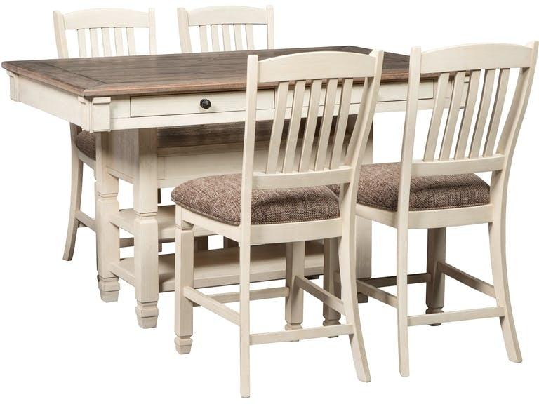 Ashley Bolanburg 5 Piece Rectangular Counter Table Dining