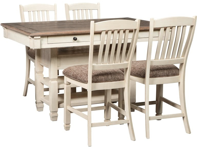 Ashley Bolanburg 5 Piece Rectangular Counter Table Dining
