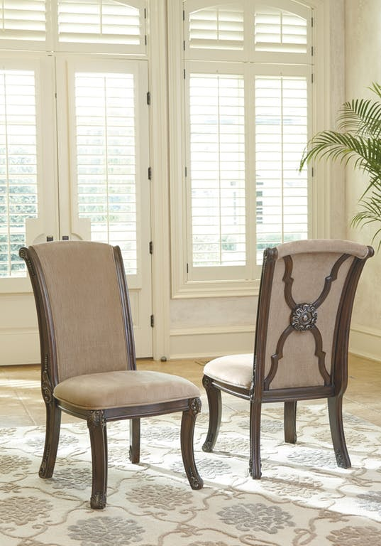 Ashley Valraven Dining Uph Side Chair Qty 2 D780 01