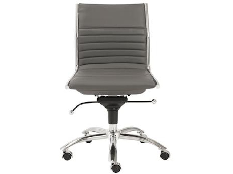 Euro Style Dirk Armless Low Back Office Chair 01266gry In Portland Oregon