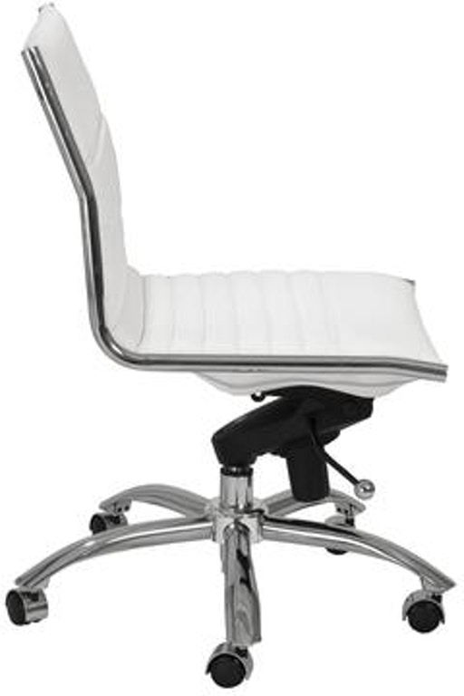 Euro Style Dirk Armless Low Back Office Chair 01266wht In Portland Oregon
