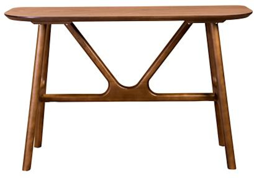 Euro Style Travis 48 Inch Console Table 01859wal Portland Or Key Home Furnishings