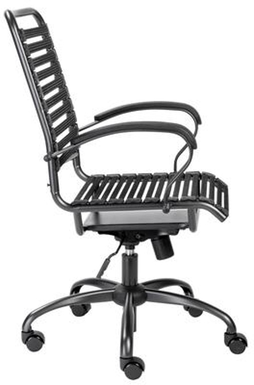 Flat J Arm High Back Office Chair