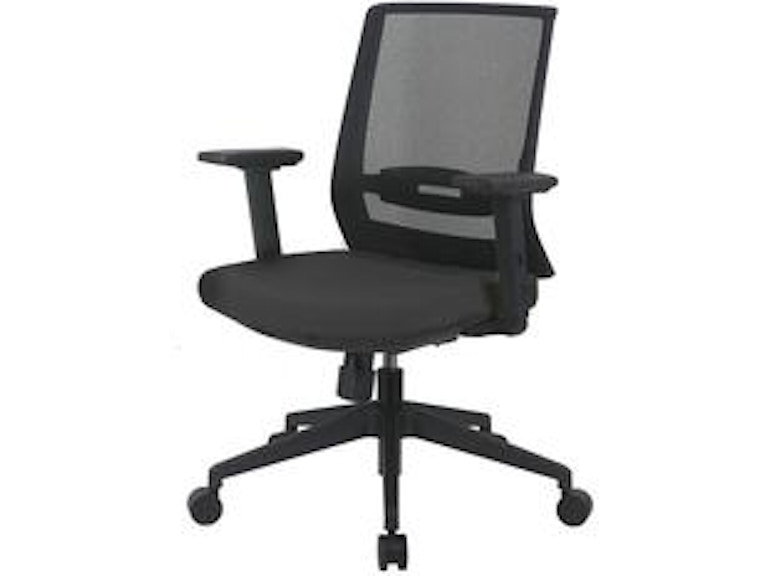 Euro Style Fiona Office Chair With Adjustable Arms 17278gry Portland Or Key Home Furnishings