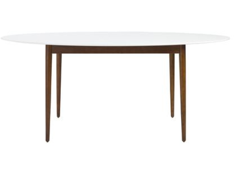 Euro Style Manon Oval Dining Table 90190wht
