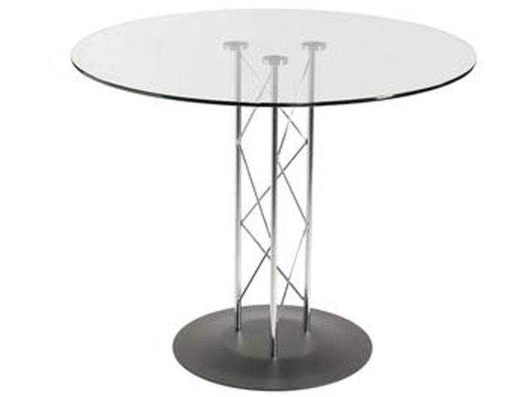 Euro Style Trave 32 Inch Dining Table D08032blk Kit