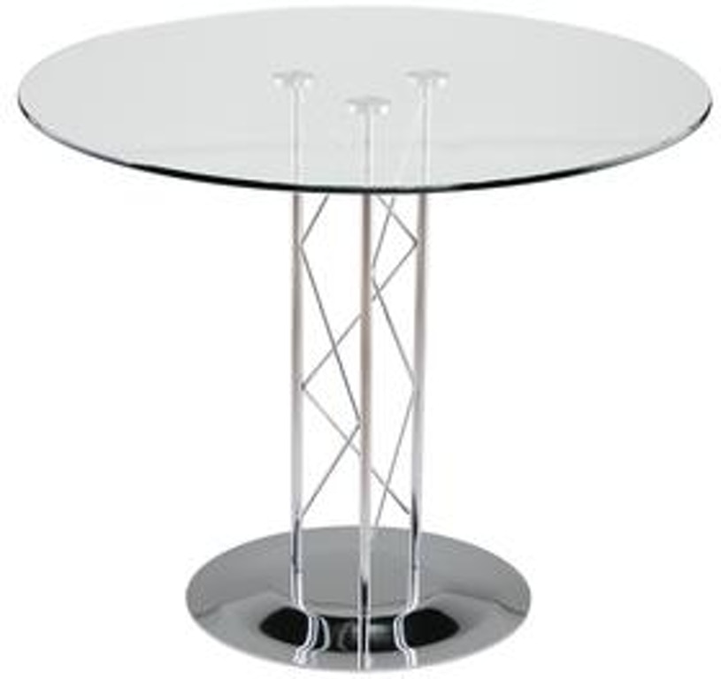 Euro Style Trave 32 Inch Dining Table D08032chr Kit