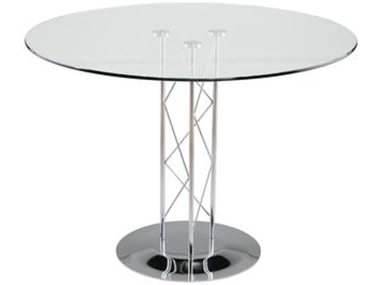 Euro Style Trave 36 Inch Dining Table D08036chr Kit In Portland Oregon