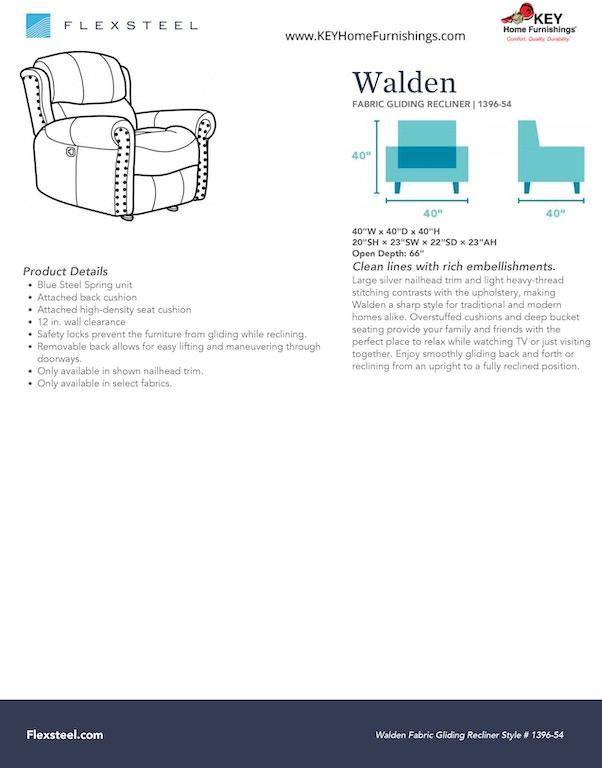 flexsteel fabric gliding recliner 1396-54 in portland, oregon