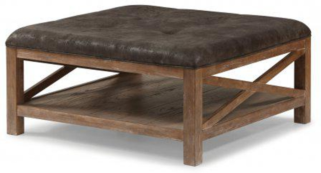 Remarkable Flexsteel Hampton Dark Square Cocktail Ottoman With Casters Gamerscity Chair Design For Home Gamerscityorg