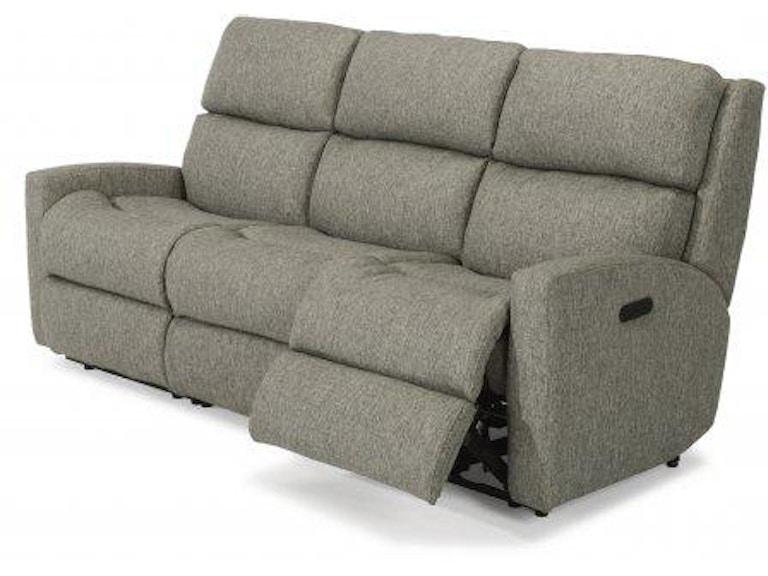 Flexsteel Fabric Power Reclining Sofa With Headrests 2900 62h In Portland Oregon