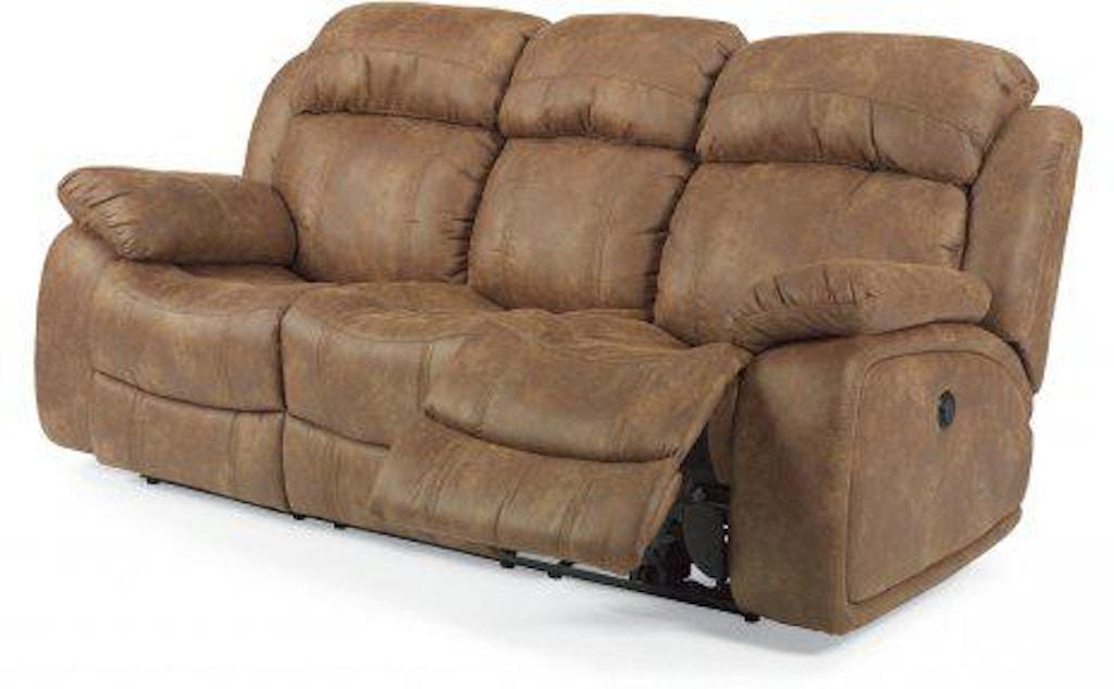 Brilliant Flexsteel Como Fabric Power Reclining Sofa 1408 62P Squirreltailoven Fun Painted Chair Ideas Images Squirreltailovenorg