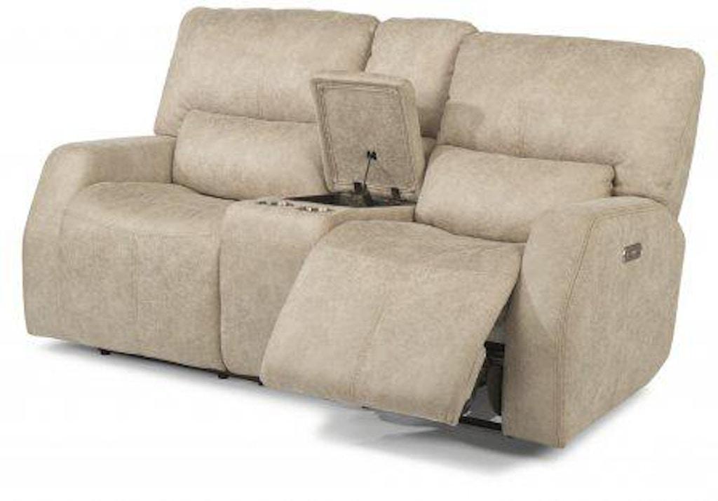 Miraculous Flexsteel Cooper Fabric Power Reclining Loveseat With Creativecarmelina Interior Chair Design Creativecarmelinacom
