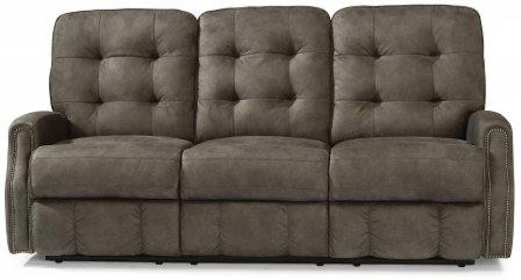 Pleasant Flexsteel Devon Fabric Power Reclining Sofa With Nailhead Squirreltailoven Fun Painted Chair Ideas Images Squirreltailovenorg