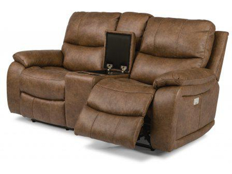 Peachy Flexsteel Hendrix Fabric Power Reclining Loveseat With Inzonedesignstudio Interior Chair Design Inzonedesignstudiocom