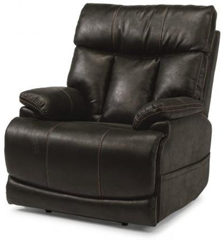 Flexsteel Clive Fabric Power Recliner With Power Headrest