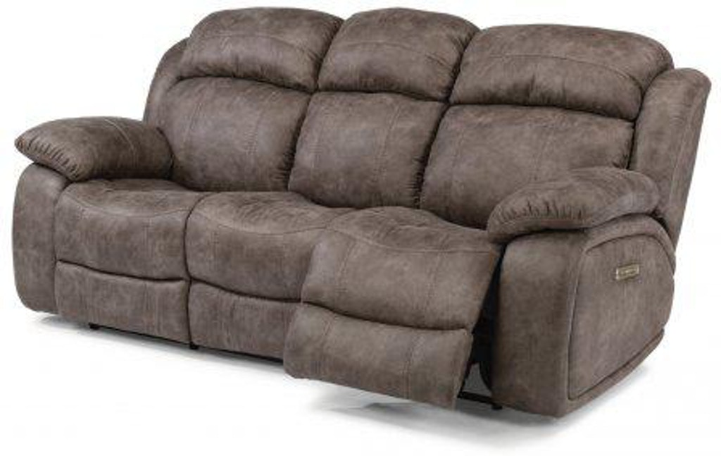 Outstanding Flexsteel Como Fabric Power Reclining Sofa With Power Squirreltailoven Fun Painted Chair Ideas Images Squirreltailovenorg